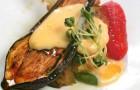 Салат из печеных баклажанов в шафранном соусе
