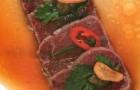 Татаки из говядины с соусом понзу