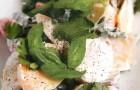 Теплый салат с куриной грудкой, молодым картофелем и репой