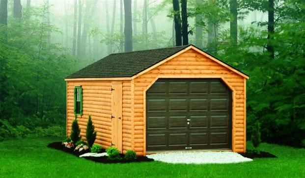 Сооружение деревянных гаражей