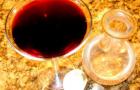 Вино натуральное из черноплодной рябины