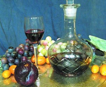 Вино сливовое быстрого приготовления