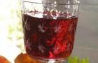 Вино вишнево-смородиновое темное