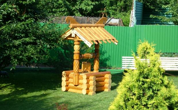 деревянные колодцы
