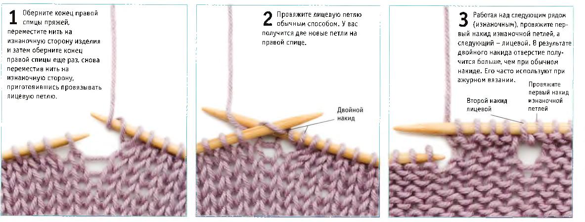 Что такое накид петля в вязании 42