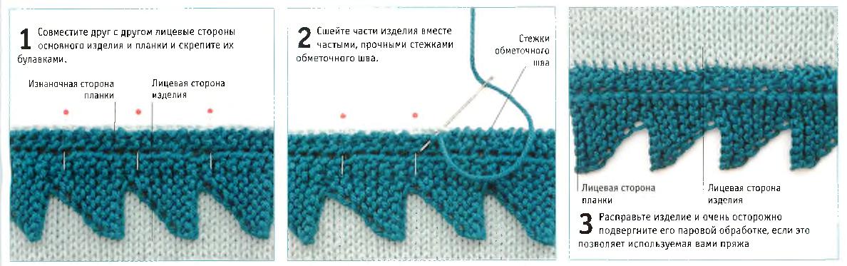 Пришивание планки