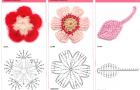Цветки с лепестками и простой листок
