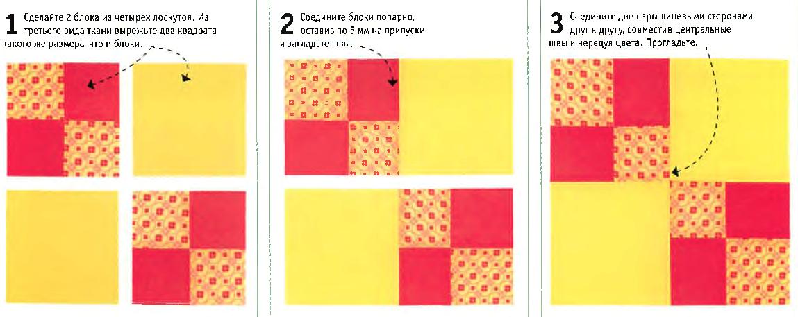 Соединение простых и составных элементов блока