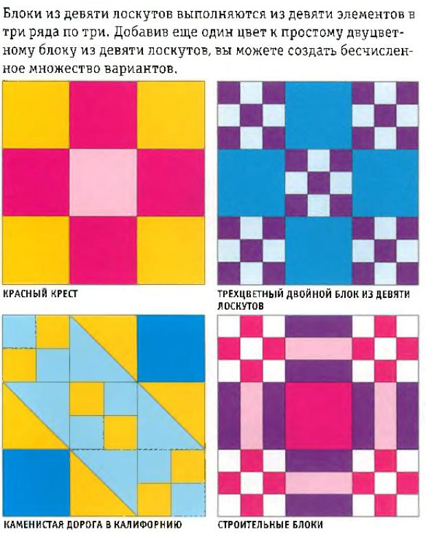 Блоки из девяти лоскутов