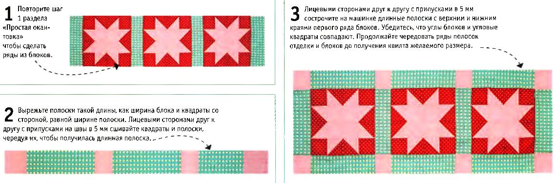Окантовка с угловыми квадратами