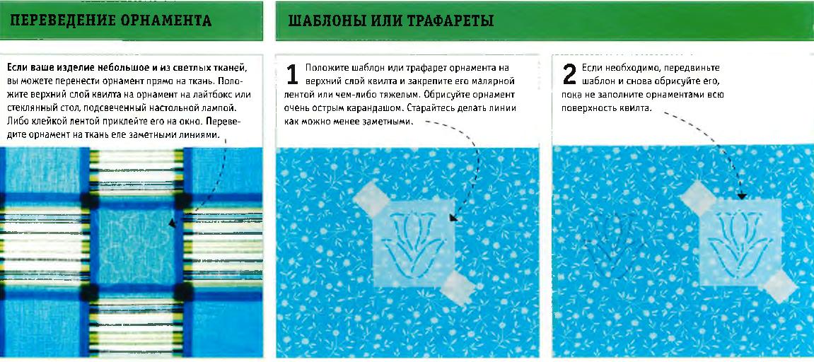 Шаблоны и переведение орнамента