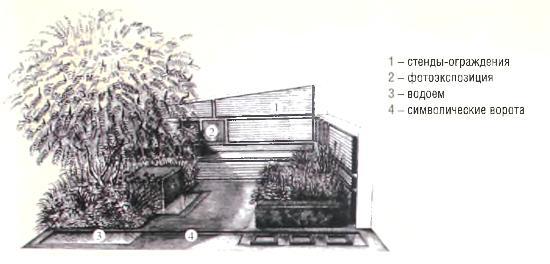 Проект сада «Сад-галерея»