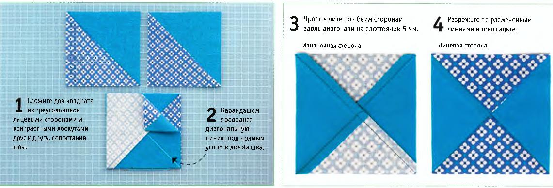 Квадраты из четырех треугольников