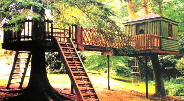 Проект дизайна «Домик на дереве»