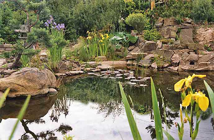 Классический холмистый сад