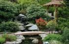 Создание ручья в японском саду