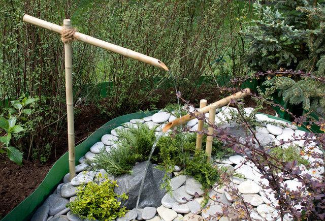 Водные устройства с бамбуковыми соцу
