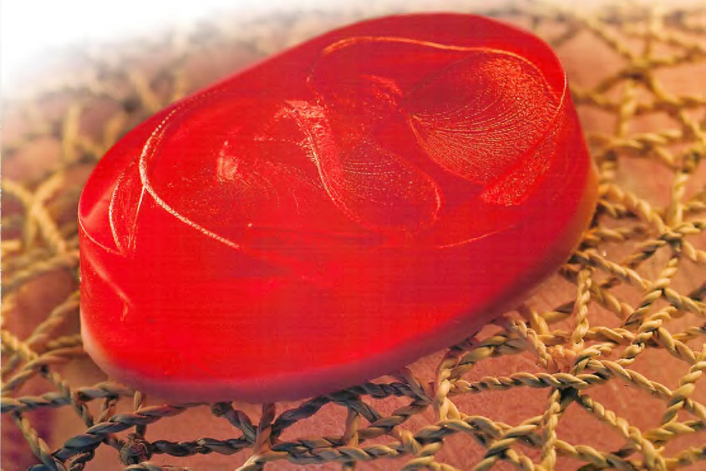 Текстура внутри мыла в виде нити