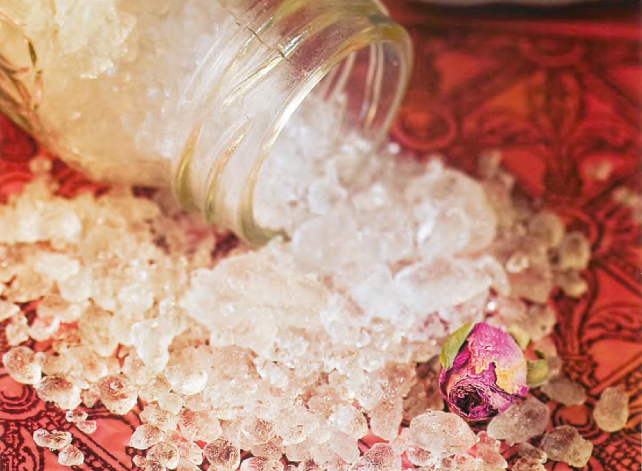 Соль с сухоцветами