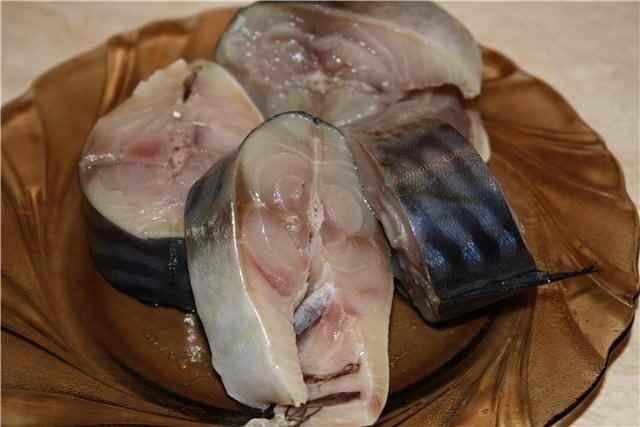 Филе скумбрии, засоленное с пряностями