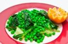 Горох с мятой и салатом-латук