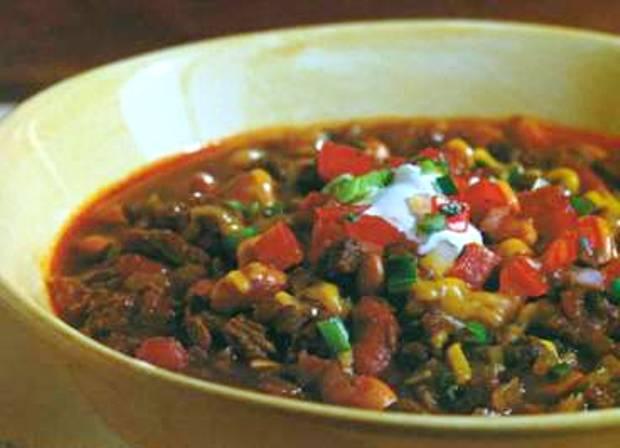 Говяжий суп чили с «маса харина»