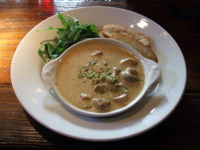 Грибной крем-суп с цыпленком