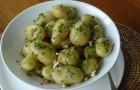 Картофельный салат с шафрановой заправкой