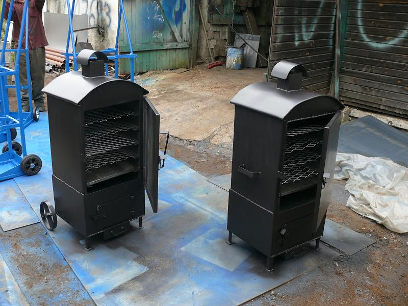 Коптильные устройства с использованием печек