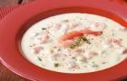 Крем-суп с креветками и хересом