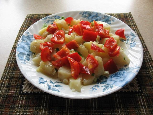 Обжаренная картошка со сладким перцем