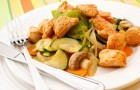 Рагу из телятины с дикорастущими грибами