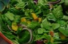 Салат со шпинатом и кровавыми апельсинами