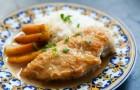Тушеные куриные грудки с соусом из цельных зерен горчицы