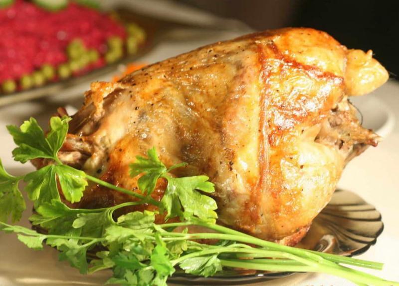 Жареный цыпленок с травяной натиркой