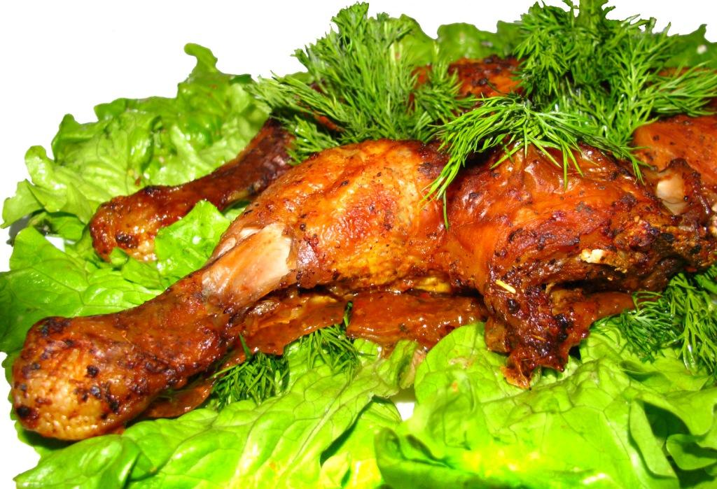 Жареный цыпленок в стиле бистро