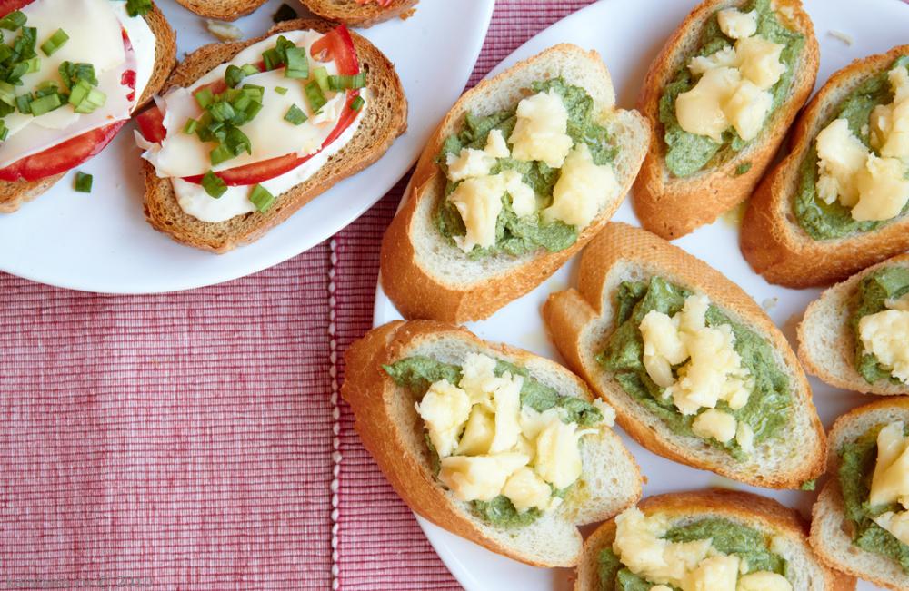 Бутерброды с крапивой и сыром