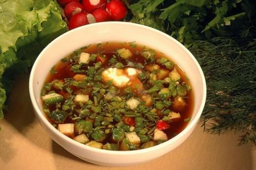 Холодный суп (окрошка)