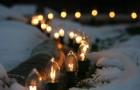 Лампа на тему зимы