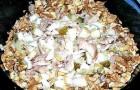 Праздничный полосатый салат