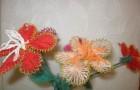 Цветы из проволоки и ниток