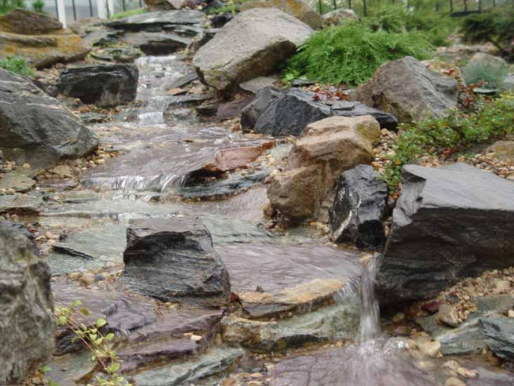 Декорирование равнинного ручья