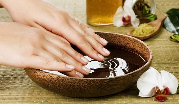 Ванночка с растительным маслом
