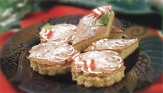 Бисквитное пирожное на сметане