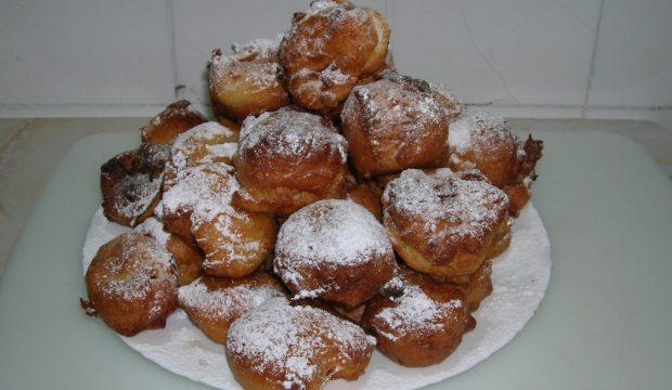 Картофельные пончики с черносливом