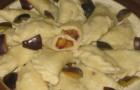 Кнедлики из творожного теста со сливами