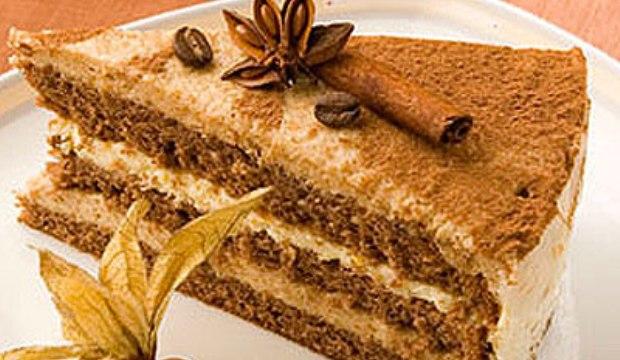 Торт крем-брюле грушевый со специями