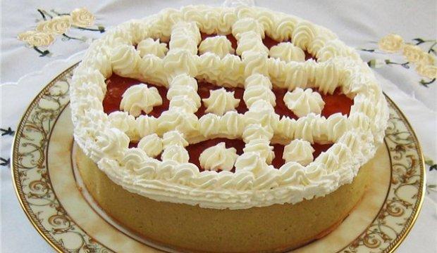Яблочно-рисовый торт