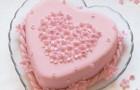 Жидкий торт-безе в форме сердца