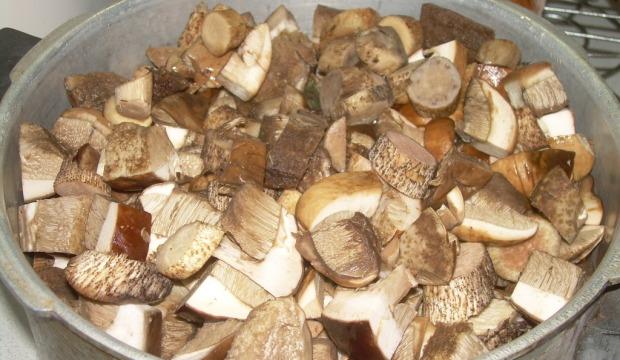 Белые грибы в собственном соку